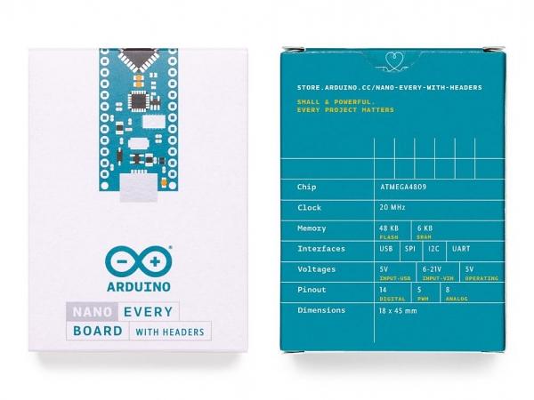 Arduino Nano Every (Headers) (Orijinal) - Thumbnail