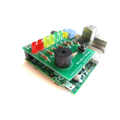 BerryClip - LED and Buzzer Add-On Board