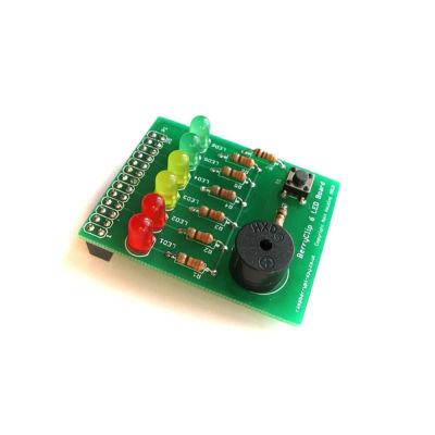 لوحة إلكترونية مع أضواء LED و سبيكر منبه من BerryClip
