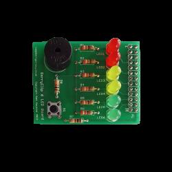 ModMyPi - لوحة إلكترونية مع أضواء LED و سبيكر منبه من BerryClip