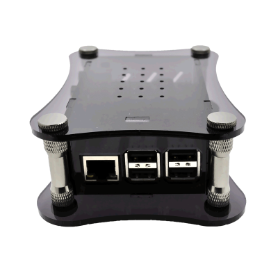 Black Acrylic Case for Raspberry Pi + BOSS DAC