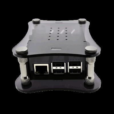 Black Acrylic Case for Raspberry Pi + BOSS DAC