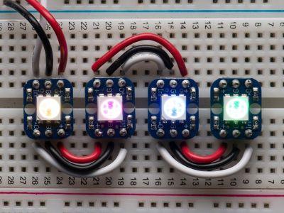 Bredboard Uyumlu 4'lü NeoPixel RGB Modül
