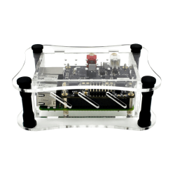 Allo - Clear Acrylic Case for Raspberry Pi + BOSS DAC