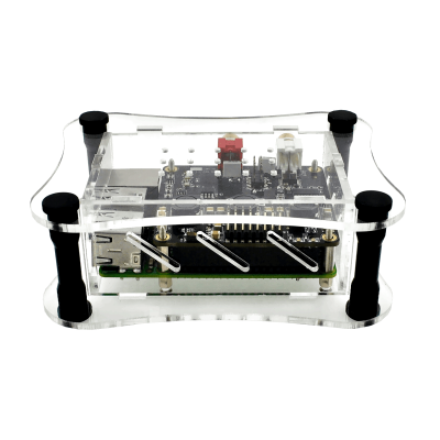 Clear Acrylic Case for Raspberry Pi + BOSS DAC