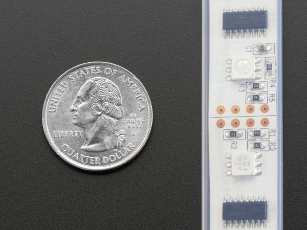 Dijital RGB LED Hava Koşullarına Dayanıklı Şerit - LPD8806 x 48 LED 1m - Thumbnail