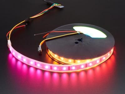 Dijital RGB LED Hava Koşullarına Dayanıklı Şerit - LPD8806 x 48 LED 1m