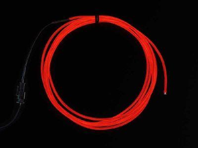 El Wire Şerit Led 2.5m-Kırmızı