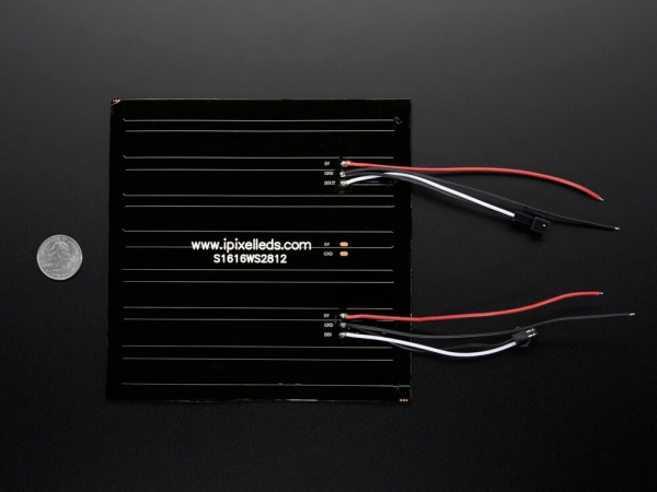 Esnek 16x16 NeoPixel RGB LED Matrisi - Thumbnail