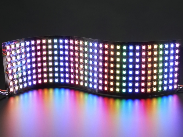 - Esnek 8x32 NeoPixel RGB LED Matrisi