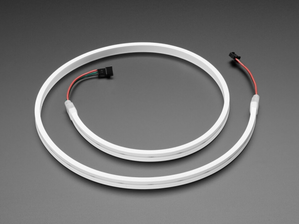 Adafruit - Esnek Silikon Neon Benzeri Skinny NeoPixel LED Şerit - Metre başına 96 LED - 1m