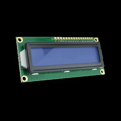 شاشة إلكترونية LCD 1602 إضاءة لون أزرق - 3.3 فولت 2x16 حرف