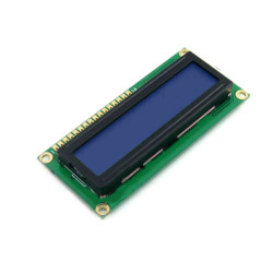 شاشة إلكترونية LCD 1602 إضاءة لون أزرق - 3.3 فولت 2x16 حرف - Thumbnail