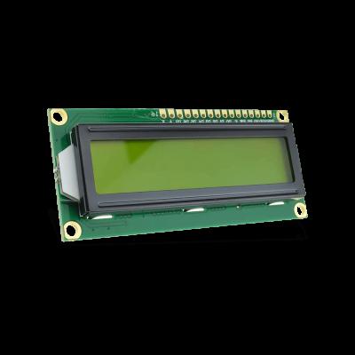 شاشة إلكترونية LCD 1602 إضاءة لون أصفر - 3.3 فولت 2x16 حرف