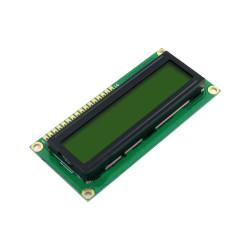 شاشة إلكترونية LCD 1602 إضاءة لون أصفر - 3.3 فولت 2x16 حرف - Thumbnail