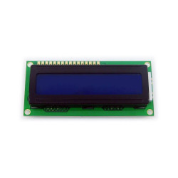شاشة إلكترونية LCD 1602 إضاءة لون أزرق - 5 فولت 2x16 حرف - Thumbnail