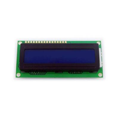 شاشة إلكترونية LCD 1602 إضاءة لون أزرق - 5 فولت 2x16 حرف