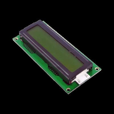 شاشة إلكترونية LCD 1602 إضاءة لون أصفر - 5 فولت 2x16 حرف