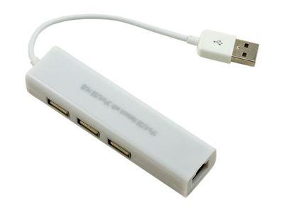 3 Port USB Hub + Ethernet Adaptör ( USB )