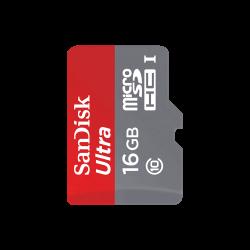 SanDisk - كرت ذاكرة MicroSD Sandisk 16GB Class 10 مع ادابتر