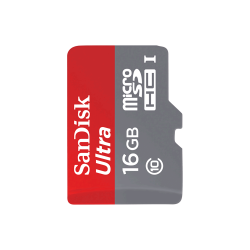 MicroSD Sandisk 16GB Class 10 with Adapter - Thumbnail