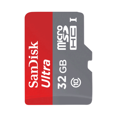 MicroSD Sandisk 16GB Class 10 with Adapter