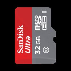 SanDisk - كرت ذاكرة MicroSD Sandisk 32GB Class 10 مع ادابتر