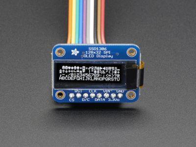 Monochrome 128x32 SPI OLED Grafik Display