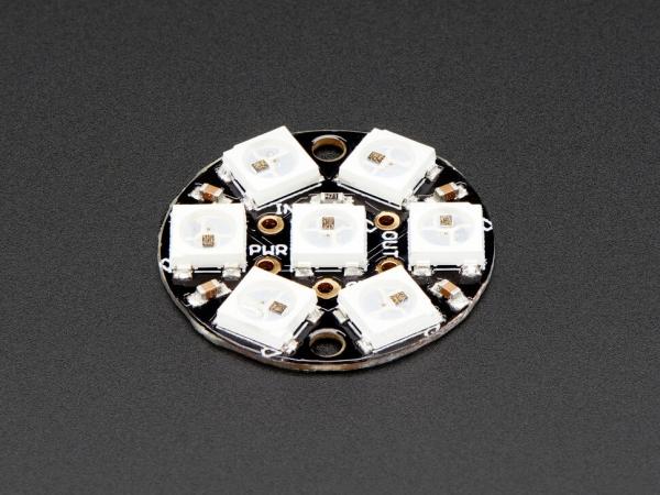Adafruit - NeoPixel Jewel - Entegre Sürücülü 7 x 5050 RGB LED