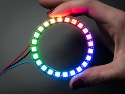 NeoPixel Ring - Entegre Sürücülü 24 x 5050 RGB LED