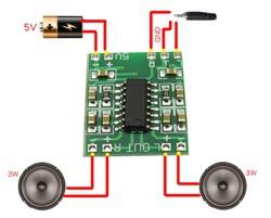 PAM8403 2x3w Mini Dijital Amplifikatör Modül - Thumbnail