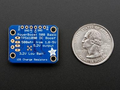 PowerBoost 500 Basic - 5V USB Boost @ 1.8V+'dan 500mA