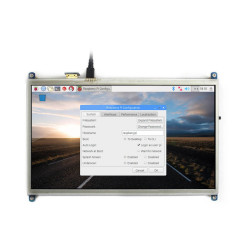 Raspberry Pi 10.1'' 1024 x 600 HDMI Dokunmatik IPS LCD Ekran - Thumbnail