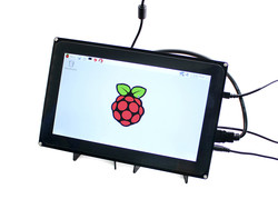 Waveshare - Raspberry Pi 10.1'' 1024x600 HDMI Touch LCD(H) With Screen Protection Case