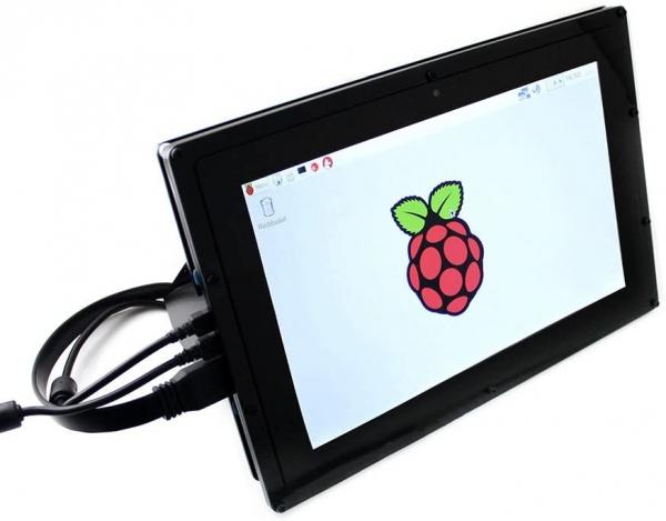 Waveshare - Raspberry Pi 10.1'' Kapasitif 1280×800 HDMI Dokunmatik IPS LCD(B) Ekran Koruma Kasalı
