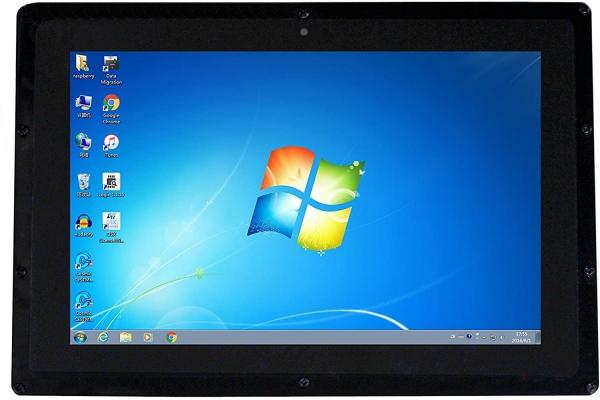 Raspberry Pi 10.1'' Kapasitif 1280×800 HDMI Dokunmatik IPS LCD(B) Ekran Koruma Kasalı - Thumbnail
