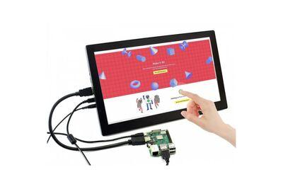 Raspberry Pi 13.3'' 1920 x 1080 HDMI Dokunmatik IPS LCD(H) Ekran Koruma Kasalı