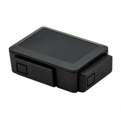 علبة -كفر- راسبيري باي 3 و 2 قابل للتعديل - لون أسود