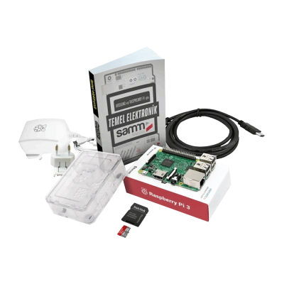 Raspberry Pi 3 Clear Case Mini Kit + Basic Electronics Book