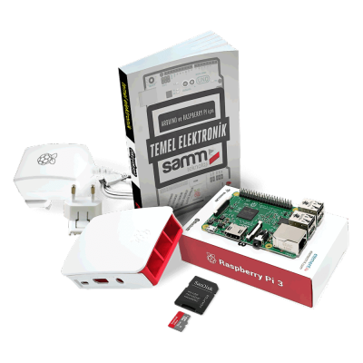 Raspberry Pi 3 Mini Kit + Temel Elektronik Kitabı