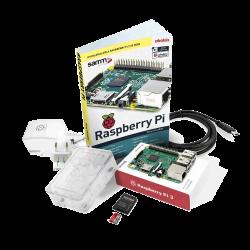 Raspberry Pi - حزمة راسبيري باي Raspberry Pi 3 المصغرة مع كتاب تدريب و كفر شفاف