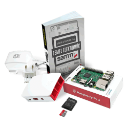 Raspberry Pi - حزمة Raspberry Pi 3 المصغرة مع كتاب مبادئ الإلكترونيات
