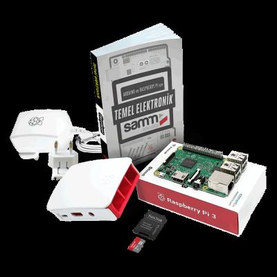 حزمة Raspberry Pi 3 المصغرة مع كتاب مبادئ الإلكترونيات