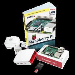 Raspberry Pi - حزمة راسبيري باي Raspberry Pi 3 المصغرة مع كتاب تدريب و كفر أصلي