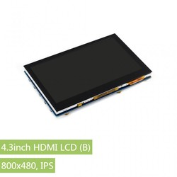 Raspberry Pi 4.3'' 800 x 480 Dokunmatik IPS LCD (B) Ekran - Thumbnail
