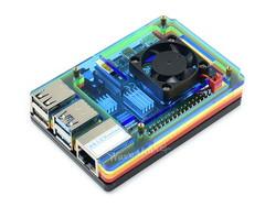 Waveshare - Raspberry Pi 4 Fanlı Koruma Kasası Renkli