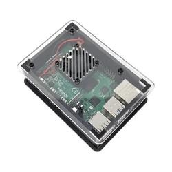 ThePiHut - Raspberry Pi 4 Fanlı Muhafaza Kutusu Şeffaf