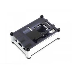 Raspberry Pi 4 Fanlı Muhafaza Kutusu Siyah/Beyaz Akrilik - Thumbnail