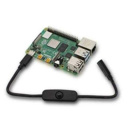 Raspberry Pi 4 Güç Anahtarlı Kablo - Type-C