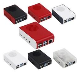 Çin - Raspberry Pi 4 Led'li Fanlı Kutu Kırmızı-Beyaz